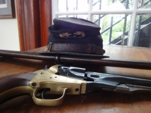 EX Bank hat and gun