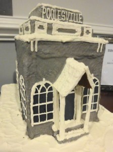 Bank gingerbread house